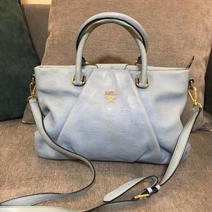 💙Auth MCM light blue bag💙